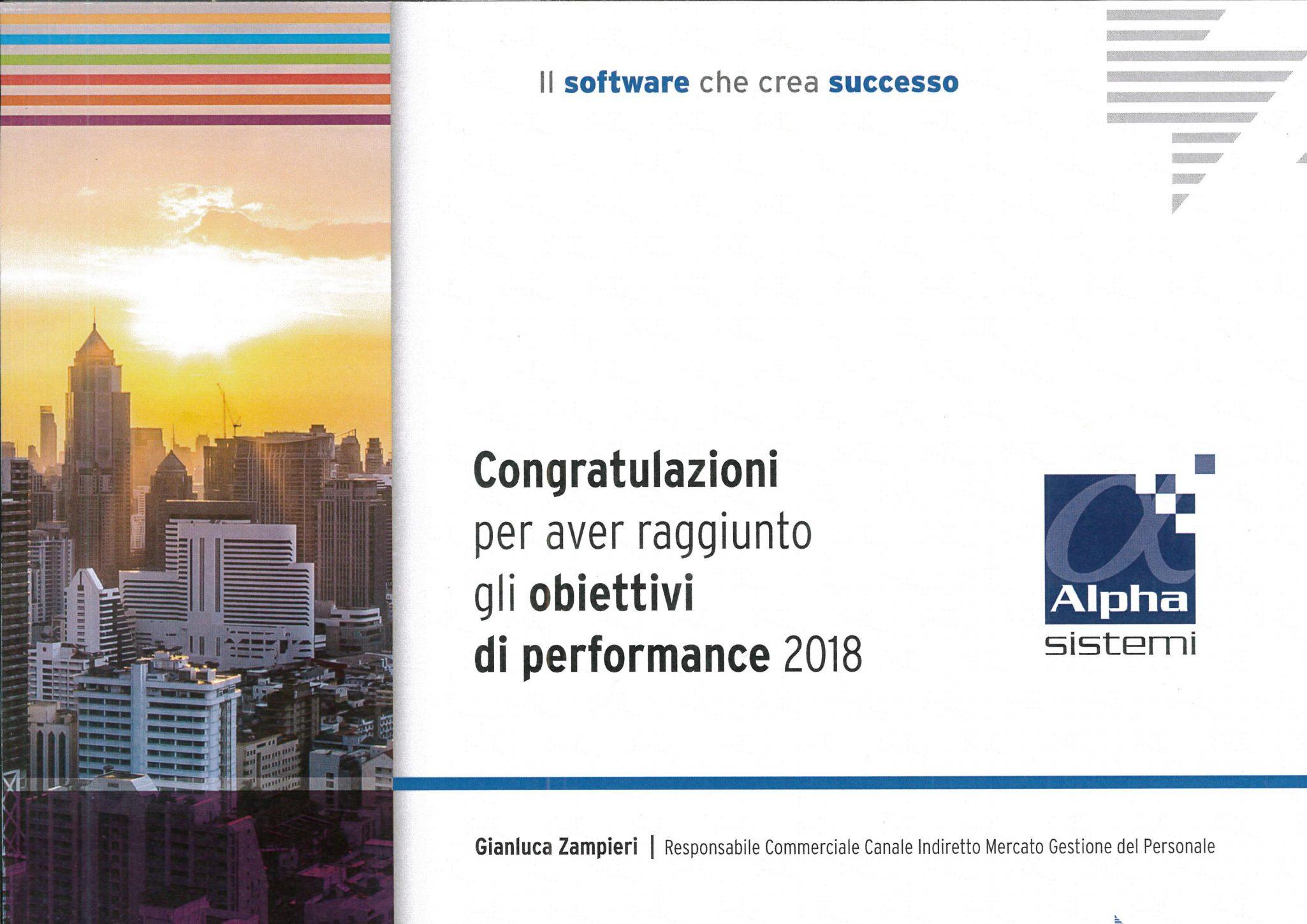 Obiettivi di performance 2018